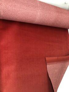 2.6 metres red velvet upholstery fabric