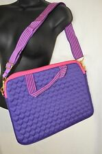 Justin Bieber Laptop Bag Case Quilted Purple Pink NIP NWT Damaged Package