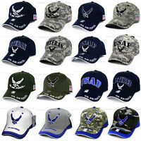 U.S. AIR FORCE Hat USAF Military Logo Embroidery Official Licensed Baseball Cap