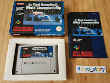Super Nintendo SNES Nigel Mansell's World Championship Racing PAL