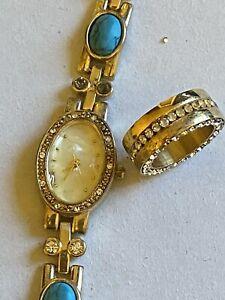 Hochwertige Antik Armbanduhr Und Ring