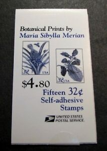 US Booklet Stamp Scott# BK261 Botanical Prints 1997 MNH L128