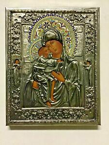 Icona Russa Madonna di Fiodor - Dipinta a Mano