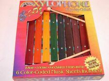 NEW 1ST NOTE TROPHY 8 NOTE COLORED WOODEN XYLOPHONE WITH BEATERS