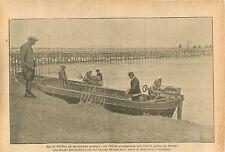 Macédoine Macedonia Greece Canot Automobile Police Patrol WWI 1916 ILLUSTRATION