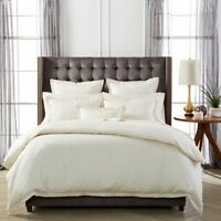 """Hudson Park Collection 600TC 100%cotton FULL fitted sheet 18"""" Deep- IVORY-NEW"""