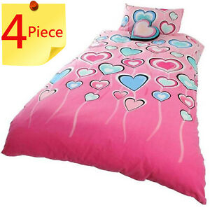 Lipstick Madeline Double Bed Quilt Cover Set + 1 x Novelty Cushion. 4 Piece