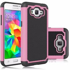 Fits Samsung Galaxy Grand Prime Case Rugged Shockproof Hybrid Cover G530  - Pink