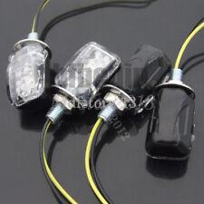 4x Motorcycle Dirt Bike 12V Turn Signal Indicator Light Clear Lens Amber Light