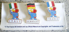 FRANCE-FIFA WORLD CUP 1998-3 PINS-u.a FRANKREICH-TOP-offz.Produkt-WELTMEISTER-**