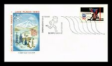 DR JIM STAMPS US OLYMPIC GAMES TORCH STATION LAKE PLACID EVENT COVER NEW YORK