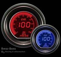 52mm Autogauge Digital LED Evo Electrical Oil Pressure Gauge Meter Red/Blue -PSI