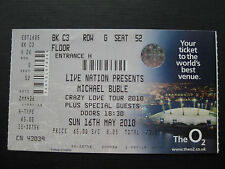 MICHAEL BUBLE  LONDON  16/05/2010  TICKET