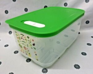 New Tupperware Green Ventsmart Medium High 4.4L Vegetable Storage Fridge Smart