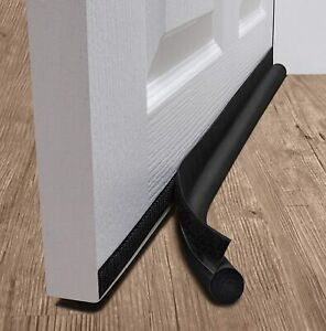 "deeTOOL MAN Door Draft Stopper: One Sided Door Insulator, Black, 2.5"" X 36 X 1"""