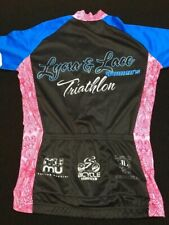 MUMU Cycling Apparel Women's  Cycling Zipper Up Jersey Lycra & Lace Triathlon M