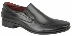 Mens Office Work School Slip On Twin Gusset Smart Dress Casual Formal Shoes Size