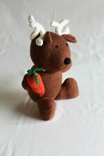 and knitted 24cm reindeer Christmas decoration