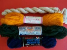 Mixed lot 100% wool or cotton needlepoint yarn, 4 sk