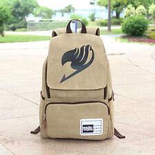 Anime Fairy Tail Guild Logo Canvas Backpack Sport School Bag Boy Girls Fashion