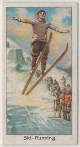 Harald Smith Norwegian Nordic Skier Jumper 1920s Trade Ad Card