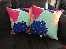 2 - Oh Joy! Painted Constellations Pillow Target Copper Mint Pink Navy Blue NEW