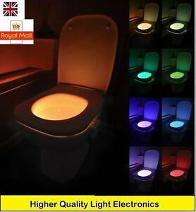 UK Toilet Bowl Loo Light Motion Operated LED Safe BOAT CARAVAN VW CAMPER VAN