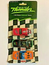 "Days of Thunder Exxon Promotion Set of 3 - 3"" Scale Die Cast Cars Vtg 1990 1/64"