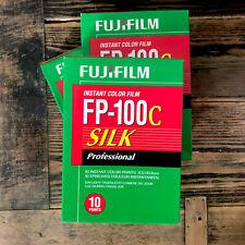 3x Fuji Fp100c Silk 2017 Exp. Peel Off Polaroid Film Fp 100c 100