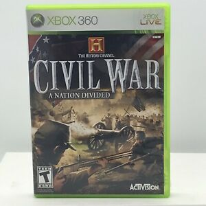 The History Channel: Civil War - A Nation Divided (Microsoft Xbox 360, 2006)