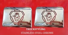 SCANIA 4 / 6 series Chrome Fender Handle Cover Application 2 Pcs Stainless Steel