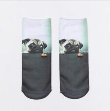 狗狗系列3D印花襪子 動物印花船襪