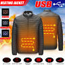Men Electric USB Heating Vest Jacket Winter Heated Infrared Thermal Coat Clothes