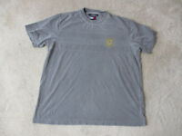 VINTAGE Tommy Hilfiger Shirt Adult Large Gray Yellow Crest Spell Out Mens 90s