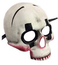 Halloween Killer Clown Skull Half Mask Adult Skeleton Jester White Red Black