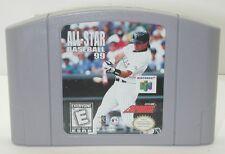 Nintendo N64 All-Star Baseball 99 Game Cartridge. Works. R13557