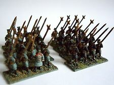 32 x 15 mm Ancient Chinese Nero Blu Chin HAN spearmen da museo per dbmm Nebbia