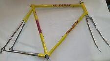 Vintage F. Moser FORMA steel Frameset 56cm, Oria tubing, yellow