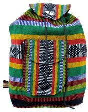 HANDMADE WOVEN MEXICAN BACKPACK, AZTEC, COLORFUL, SCHOOL,TRAVEL, RASTA, NEW