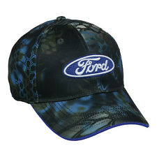 NEW FORD Blue OVAL PATCH Logo on KRYPTEK  NEPTUNE Camo pattern Hunting Hat
