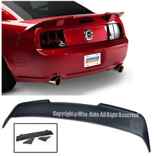For 05-09 Ford Mustang R Style Unpainted 3 Pcs Rear Trunk Spoiler Wing Lip Kit