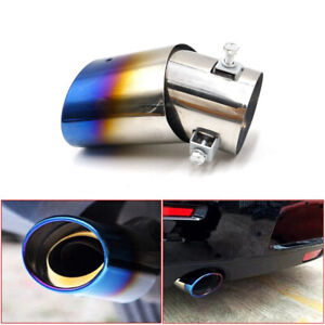 Universal Round Car Exhaust Pipe Tip Tail Muffler Stainless Steel Replacement