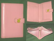 Bifold Mini Wallet ~ PINK LEATHER Furla Design ITALY Coin Purse CARD CLUTCH Bag