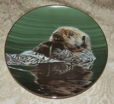 The Hamilton Collection Just Resting Otter Plate Ron Parker 1988