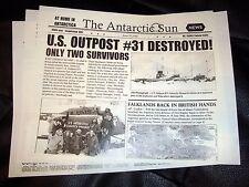 THE THING prop Vintage Horror Newspaper John Carpenter Kurt Russell
