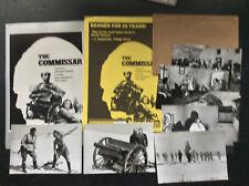 Set of 7 rare THE COMMISSAR FILM STILLS & BROCHURES Russian Soviet war movie