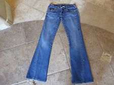 True Religion, 'Joey', Wmn's Sz 26, W25.5L30, Twisted Leg, Flap Button Pockets