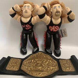 WCW Beanbag Brawlers Kevin Nash X 2 +World HeavyWeight Belt Limited Edition RARE