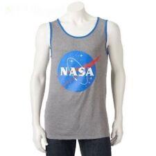 Buzz Aldrin NASA Men's Tank Top Size LARGE NWT Grey