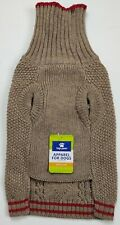 New listing Top Paw Dog Cable Knit Sweater Size Medium Nwt Tan w/ Red Accents
